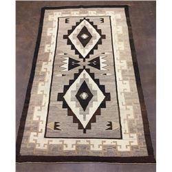 Early, Large, Two Grey Hills Navajo Textile