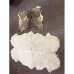 Large Sheepskin Blanket and Deer Hide