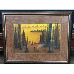 Original Watercolor - Black Eagle