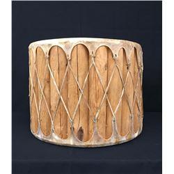 Large, Unique Rawhide Drum