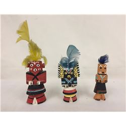 Group of 3 Vintage Route 66 Kachinas
