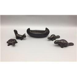 Group of Pueblo Pottery Figures