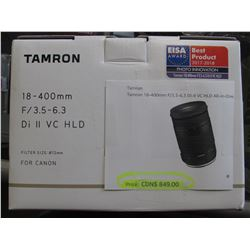 TAMRON 18-400MM F/3.5-6.3 DI II VC HLD CAMERA LENS FOR CANON CAMERAS