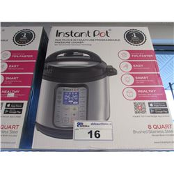 8 QUART INSTANT POT DUO PLUS 9-IN-1 MULTI USE PROGRAMMABLE PRESSURE COOKER
