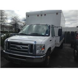2008 FORD ECONOLINE, VAN, WHITE, DIESEL, AUTOMATIC, VIN#1FDXE45P98DB48774, 278,850KMS, RD,TW,AC,