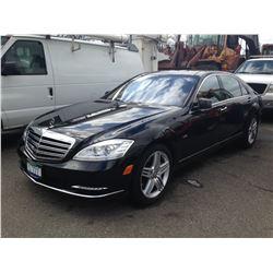 2012 MERCEDES S600V, 4DR SEDAN, BLACK, VIN # WDDNG7GB7CA457930