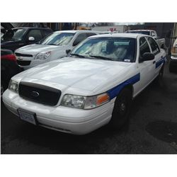 2011 FORD CROWN VICTORIA, WHITE, 4DRSD, GAS, AUTOMATIC, VIN#2FABP7BV4BX142500, TMU (DISPLAY OUT),
