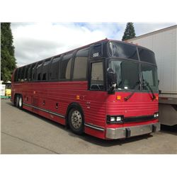 1989 PREVOST XL102, RED, BUS, DIESEL, AUTOMATIC, VIN#2P9L3340XK1001900, TMU, DEAD BATTERY,