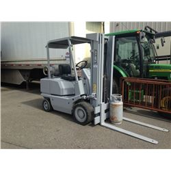 "KALMAR CP50 FORKLIFT, GREY, PROPANE, COMES WITH PROPANE TANK, 42"" FORKS, 9,816 HOURS,"