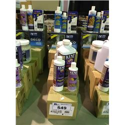LOT OF ASSORTED AQUARIUM DECOR & AQUARIUM TREATMENT PRODUCTS
