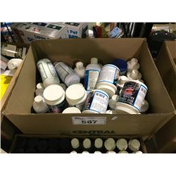 BOX OF AQUARIUM TREATMENT PRODUCTS