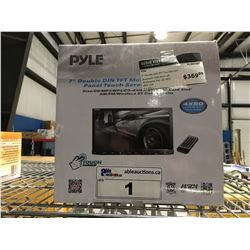 """PYLE 7"""" DOUBLE DIN TFT TOUCH SCREEN CAR AUDIO MULTIMEDIA PLAYER"""