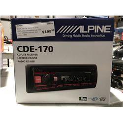 ALPINE CDE-170 CD/USB RECEIVER CAR STEREO