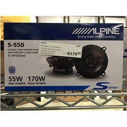 ALPINE S-S50 COAXIAL 2-WAY SPEAKER SYSTEM