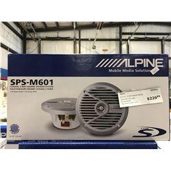 ALPINE SPS-M601 COAXIAL 2-WAY MARINE SPEAKER SYSTEM