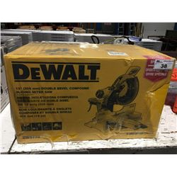 """DEWALT 12"""" DOUBLE BEVEL COMPOUND SLIDING MITRE SAW MODEL DWS-779"""