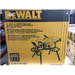 "DEWALT 10"" JOBSITE TABLE SAW MODEL DWE-7491RS"