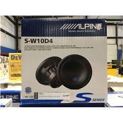 "ALPINE S-W10D4 10"" HIGH PERFORMANCE DUAL VOICE COIL SUBWOOFER"