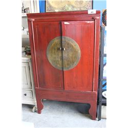 ANTIQUE ASIAN ARMOIRE WITH SECRET STORAGE