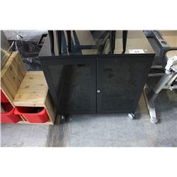 ROLLING BLACK TV MOUNT/ENTERTAINMENT UNIT
