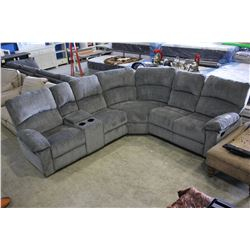 GREY FABRIC SECTIONAL - SOME TEARING ON SEAMS