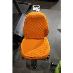 ORANGE PADDED ROLLING OFFICE CHAIR