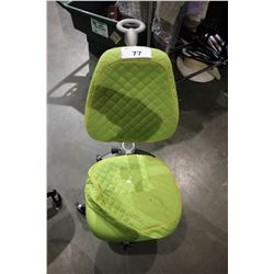 GREEN PADDED ROLLING OFFICE CHAIR