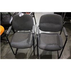 PAIR OF GREY OFFICE CHAIRS
