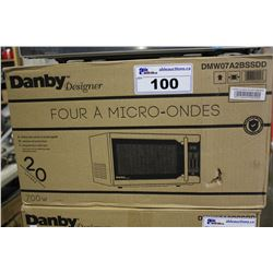 STAINLESS STEEL DANBY DESIGNER MICROWAVE OVEN