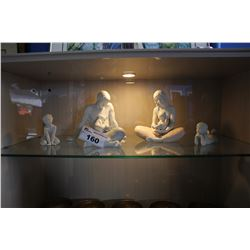 FOUR LLADRO FIGURINES HANDMADE IN SPAIN ( 8405, 8404, 8407 )
