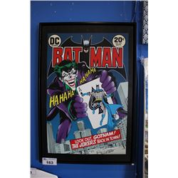 "FRAMED CANVAS PRINT - ""BATMAN - LOOK OUT, GOTHAM! THE JOKER'S BACK IN TOWN!"""