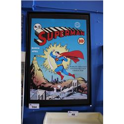 "FRAMED CANVAS PRINT - ""SUPERMAN - WORLD'S GREATEST ADVENTURE-STRIP CHARACTER!"""