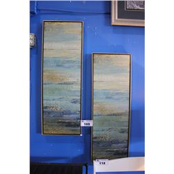 PAIR OF FRAMED CANVAS PRINTS