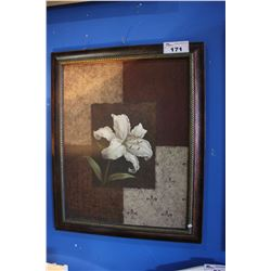 FRAMED PRINT - WHITE LILY