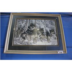 FRAMED PRINT -  WOLF PACK