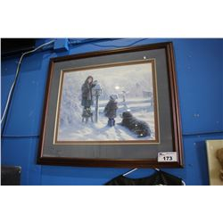 FRAMED PRINT -  LIGHTING THE WINTER LANTERN
