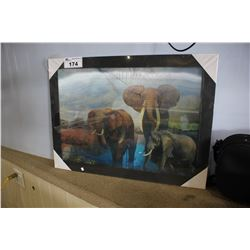 FRAMED 3D WALL ART - ELEPHANTS