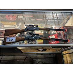 2 EDISON GIOCATTOLI JEFFERSON 13-SHOT CAP GUN RIFLES
