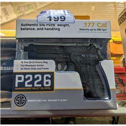 .177 CAL SIG SAUER P226 ADVANCED SPORT PELLET CO2 PISTOL
