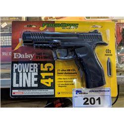 .177 CAL DAISY POWERLINE 415 21-SHOT CO2 SEMI-AUTOMATIC BB PISTOL