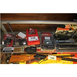 LOT INCLUDING LASERLYTE MBS SIX PACK, RIFLESCOPE STRETCH COVER, HORNADY 38/357/357 3 DIE SET, HAND