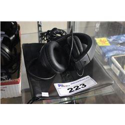 PAIR OF SHURE HEADPHONES WITH BAG