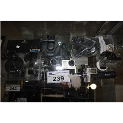 LOT OF GOPROS AND ACCESSORIES INCLUDING HERO 3 AND 4