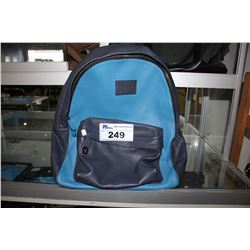 DUAL TONE BLUE COACH DESIGNER BACKPACK