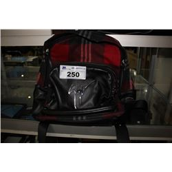 RED/BLACK GIUSEPPE ZANOTTI DESIGNER BACKPACK