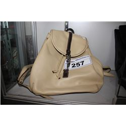 BEIGE COACH DESIGNER BACKPACK