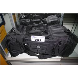 BLACK PACK FITNESS GYM BAG