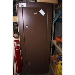 BROWN GUN LOCKER WITH KEYS