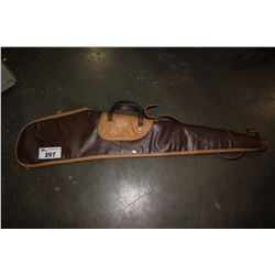 BROWN LEATHER RIFLE CASE
