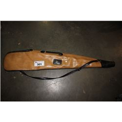 BEIGE LEATHER RIFLE CASE
